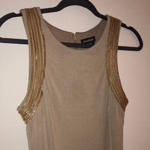 Bebe - Nude Midi Cocktail Dress